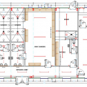 Drawing No. F10: Modular 2-Team Changing Rooms with Toilets, Showers, separate facilities for Officials and Club Kitchen/Social Area.