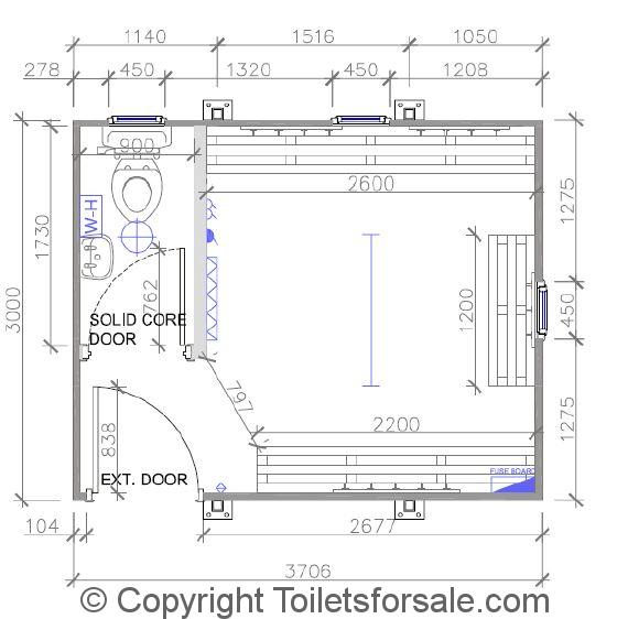 F2  Small Unisex Changing Room with one Toilet  Size. Portable Changing Room Toilets   Shower Units   Toiletsforsale