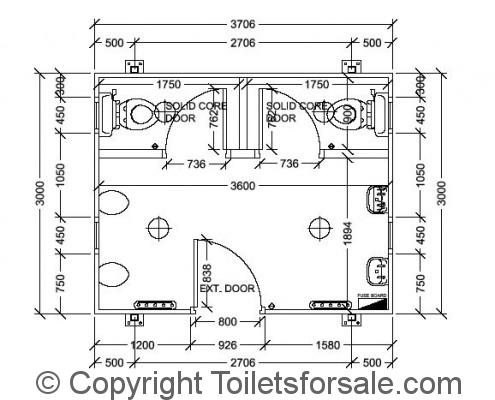 Drawing No. A2: Male Toilet Unit
