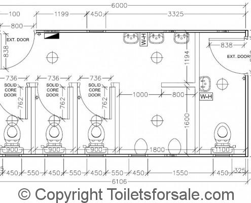 Drawing No. A5: Male/Female Toilet Unit