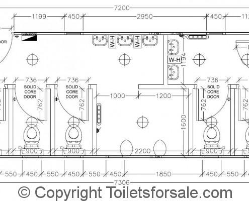 Drawing No. A7: Male/Female Toilet Unit