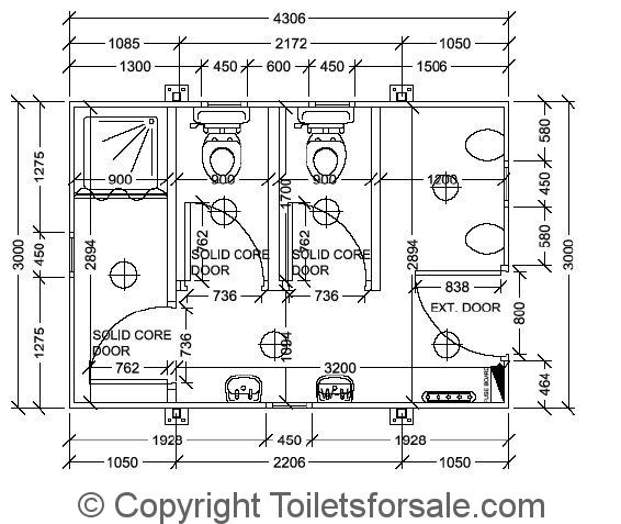 Toilet Block Design