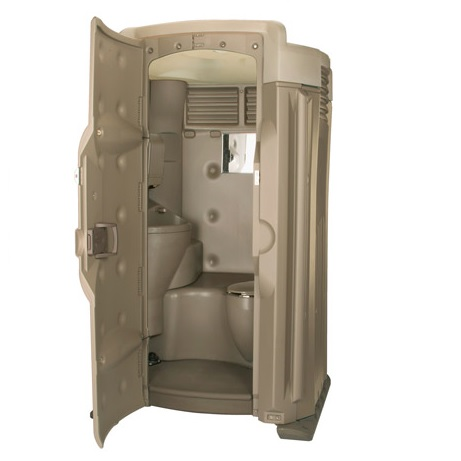 luxury high tech ii fresh water flushing portable toilet