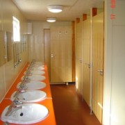 Interior Toilet Block with Washbasins