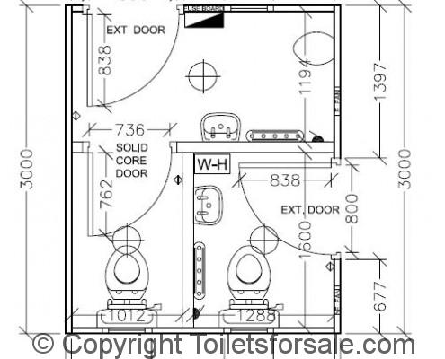 Drawing No. A1: Male/Female Toilet Unit