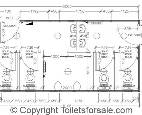 Drawing No. A6: Male/Female Toilet Unit