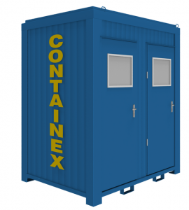 Twin Steel Containex Portable Toilet