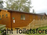 luxury portable toilet cabins