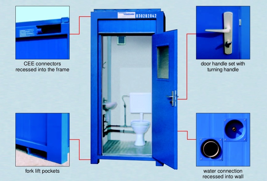 Steel Portable Toilet